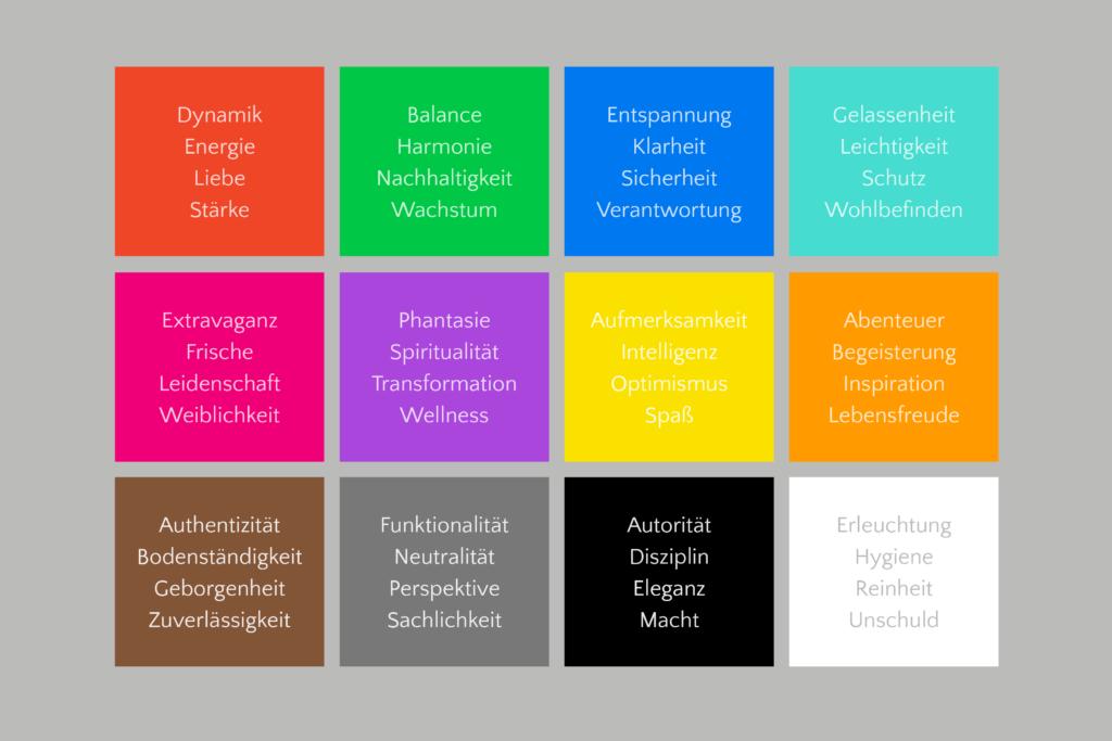 Farbpsychologie Branding